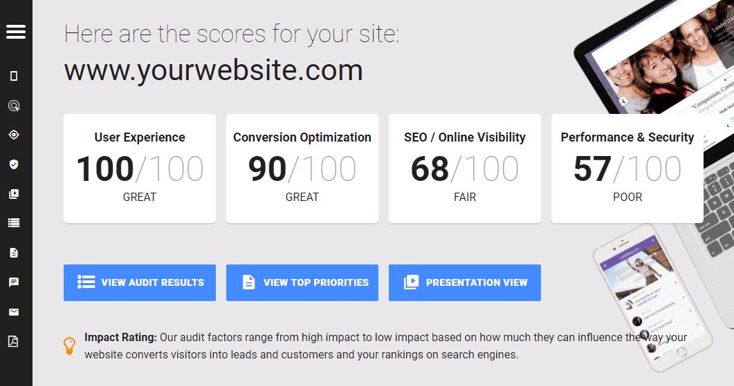 Site Assessment Screenshot